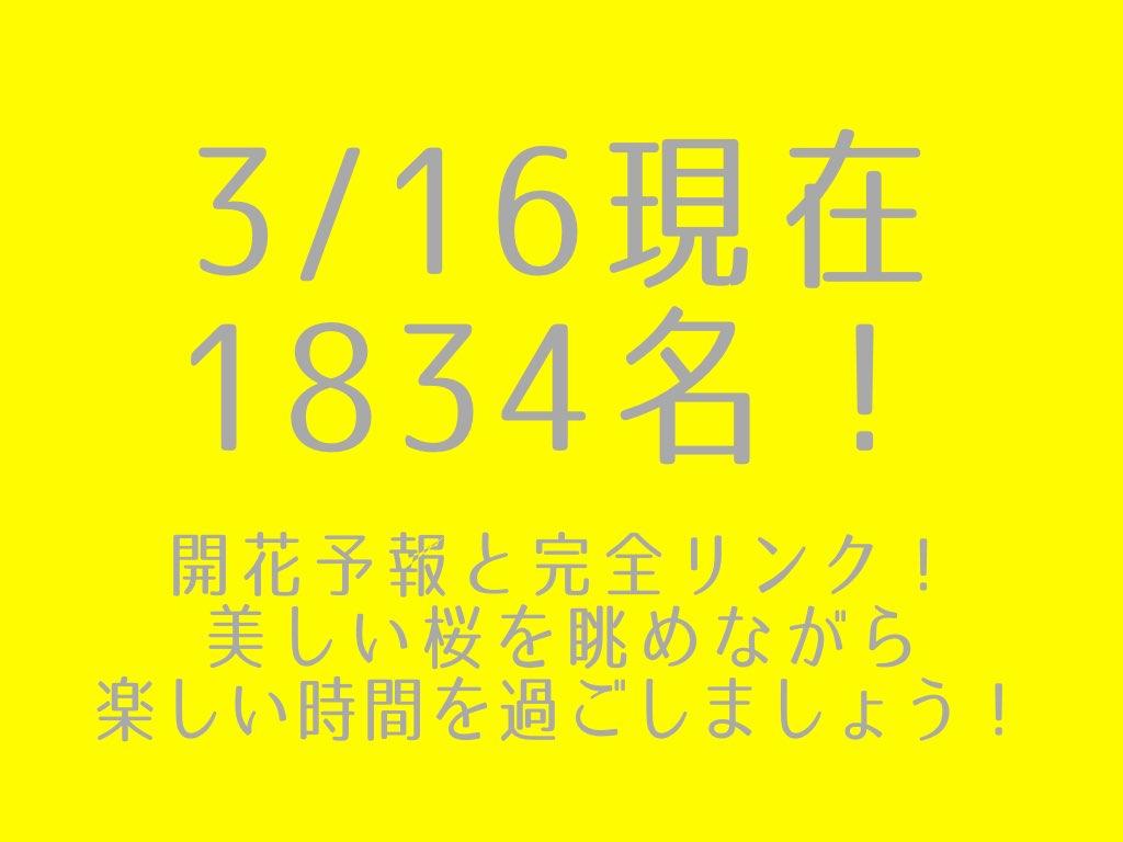 3/16現在1834名!サクラサクか?