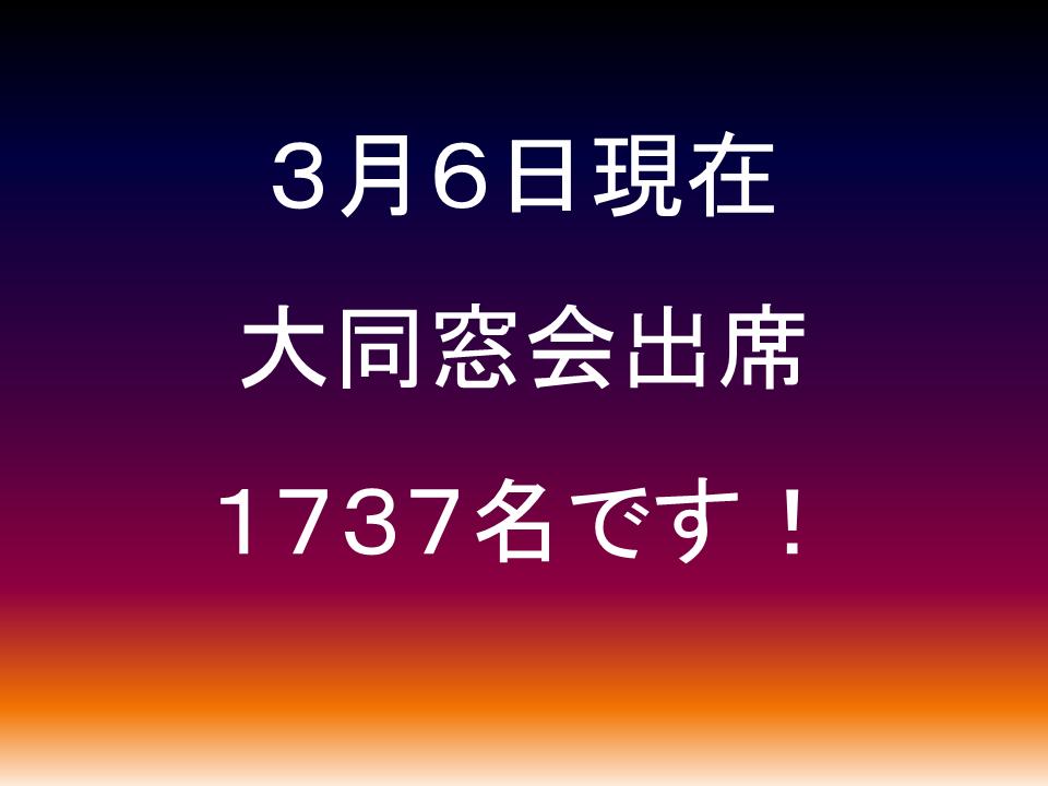 3/6現在1737名!